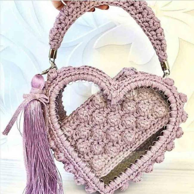 """Заготовки """"сердечки"""" для сумок, шкатулок и корзин из акрила"""