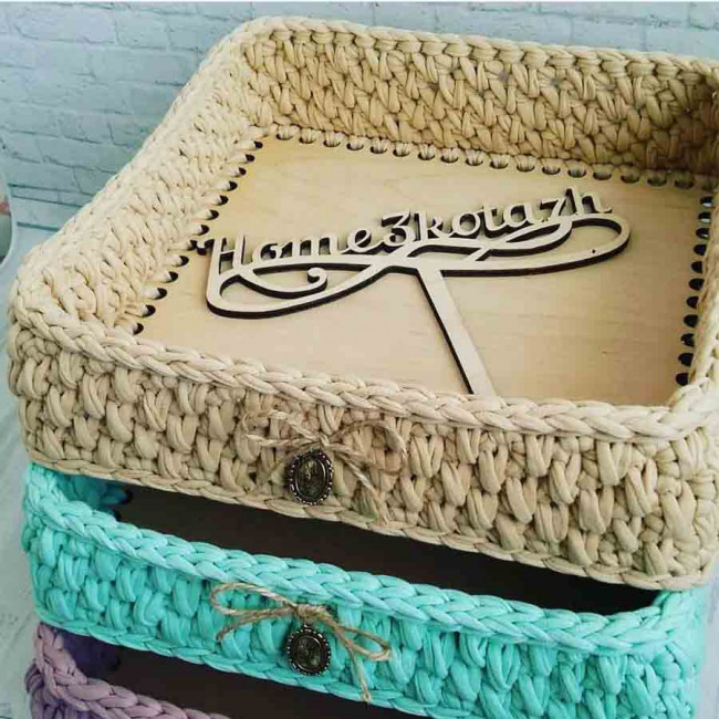 Заготовки квадратные ажурные для сумок, шкатулок и корзин из дерева