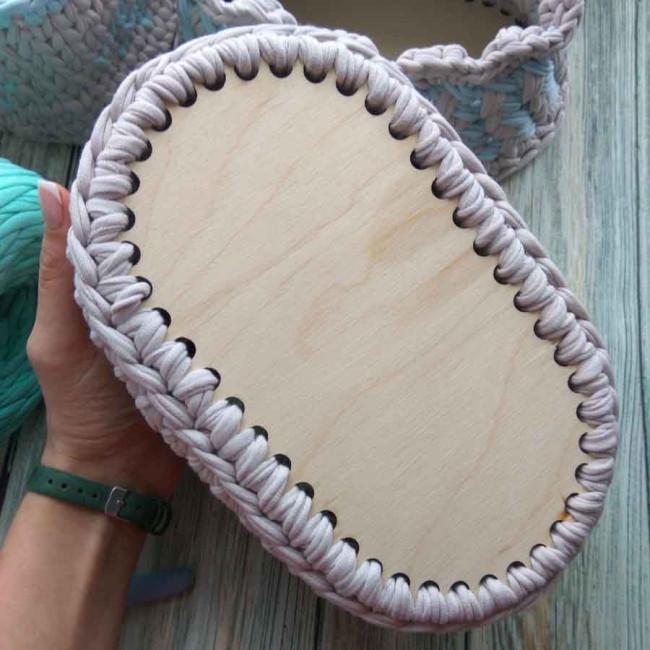 Заготовки овальные ажурные для сумок, шкатулок и корзин из дерева