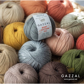 Пряжа Baby Cotton 25gr. GAZZAL